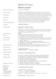 waiter resume sample australia u2013 inssite
