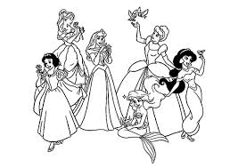 disney princess coloring pages girls stylish family 2834