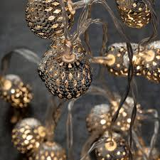 outdoor battery fairy lights moroccan silver ball garland lights tutti decor ltd