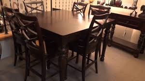 counter height dining room table sets ashley porter counter height extension dining set review youtube
