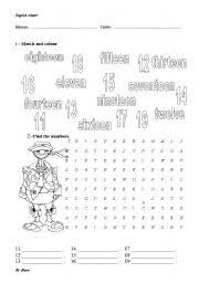 worksheet number from 11 20