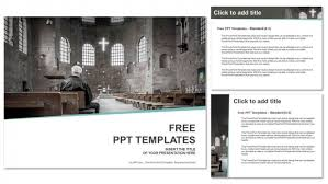 man praying in church powerpoint templates
