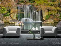28 waterfall wall murals chestnut trail waterfall 1 piece waterfall wall murals wall murals waterfalls canvas prints amp posters tropical