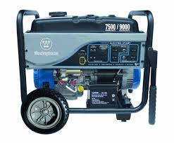 westinghouse 7500ec watt electric start portable generator carb