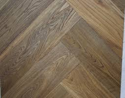 Laminate Flooring Fitters London Smoked Brushed And Sealed Engineered Oak Herringbone Wood Blocks