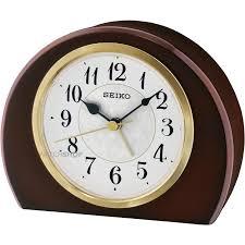 seiko clocks mantel alarm clock qxe054b shop
