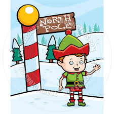 north pole cartoon christmas elf by cory thoman toon vectors eps