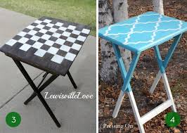 Folding Tv Tray Table 10 Clever Ways To Make Over Your Tv Tray Tables Curbly