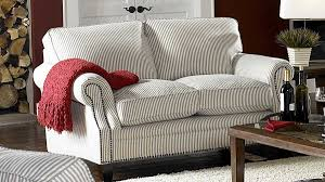 Striped Sofas Living Room Furniture Blue Striped Fabric Cottage Style Sofa Loveseat Set