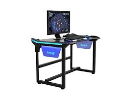 e blue usa wireless glowing led pc gaming desk table medium