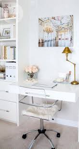 chic workspace study office white built in desk gold silver