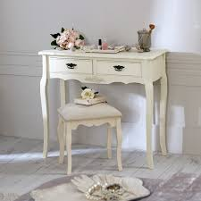 cream wooden dressing table set stool shabby french chic bedroom