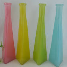 triangle glass flower vase high chic good quality wedding deco