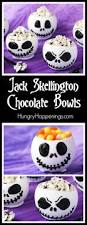 jack skellington chocolate bowls filled with cookies u0027n cream mousse