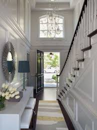 Transitional Chandeliers For Foyer Two Story Foyer With Yellow And Gray Rug Transitional Regard
