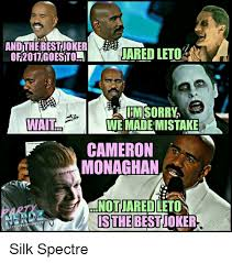 Jared Leto Meme - andthe best joker jared leto wait we made mistake cameron monaghan