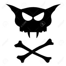 cat skull and cross bones royalty free cliparts vectors and stock