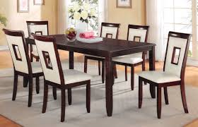 71595 oswell 5pc dining set in cherry by acme w pu chairs