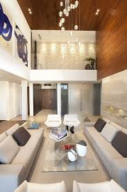 High Ceiling Lighting Interior Design Lovely White Sofa With Great Glass Desk And