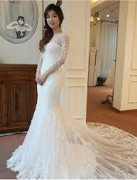 wedding dress korea aliexpresscom buy luxury lace mermaid wedding dress 2017 korean
