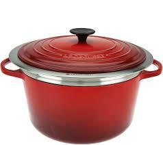 Creuset Pot Le Creuset 6 5qt Cast Iron Dutch Oven With Steamer Basket Page 1