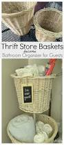 Diy Bathroom Storage by Diy Bathroom Storage From Old Baskets Refresh Living