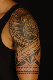 polynesian tribal turtle tattoos on shoulder real photo pictures
