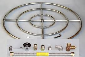 steel rings large images 36 quot stainless steel fire pit burner ring kit natural gas fireglass jpg
