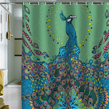Peacock Shower Curtain — fice and Bedroom Very Stylish Peacock