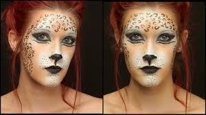 halloween leopard makeup tutorial quick leopard makeup tutorial youtube