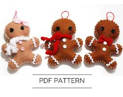 diy gingerbread ornament pdf pattern