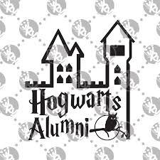 hogwarts alumni decal hogwarts alumni decal white rabbit vinyl