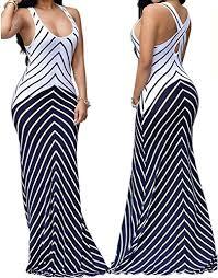 shekiss women u0027s casual summer sleeveless striped bodycon