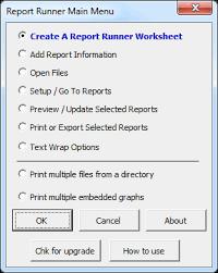 report runner for microsoft excel