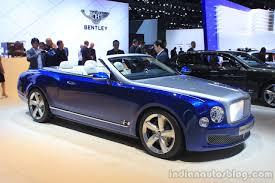 bentley convertible blue bentley grand convertible concept debuts in la