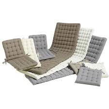 galette de siege coussin de chaise jardin fauteuil et repose pieds equinoxe gris