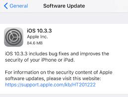 apple update apple ios 10 3 3 has two nasty surprises