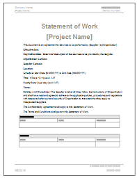 statement of work template templates franklinfire co