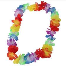 flower leis 10 pcs hawaiian flower leis garland necklace fancy dress party