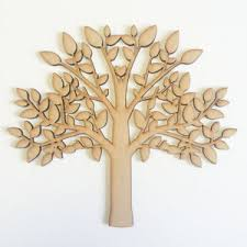mdf tree shape blank family tree craft blank wooden tree free