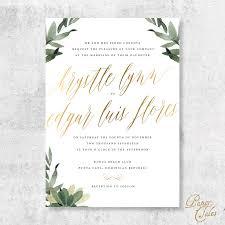 formal invitations burgundy greenery gold floral formal wedding invitation set