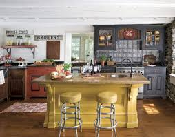 yellow kitchen islands early american country kitchen