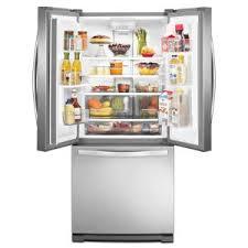Home Depot French Door - whirlpool 30 in w 19 7 cu ft french door refrigerator in