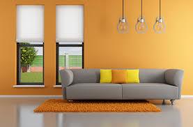 living room grey sofa nice red cushions floral home decor nice