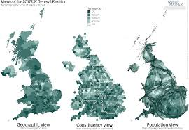 Uk Election Map by Cartogram U2013 Mapping The 2017 General Election Geographical
