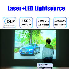 nierbo hd android projector 3d high brightness 4500 lumens