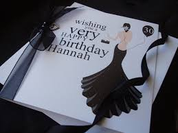long black dress birthday card handmade cards pink u0026 posh