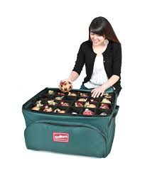 3 tray deluxe ornament storage bag realistic artificial
