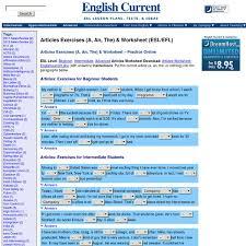 articles exercises a an the u0026 worksheet esl efl english