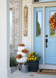 Cheery Fall Front Door Decorations The Home Depot Blog